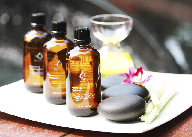 A Choice of massage oil